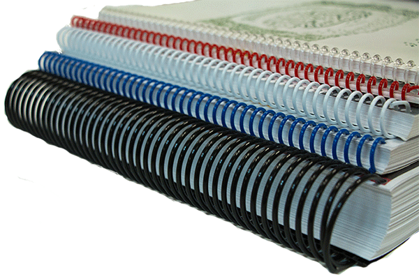 Assortment of coil-bound books